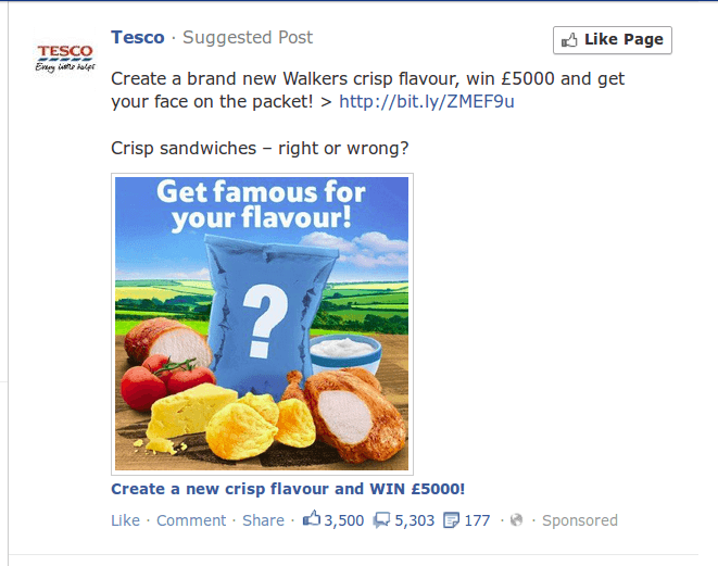 Tesco Facebook Campaign