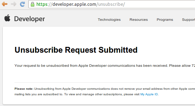 Apple Unsubscribe Done-fs8