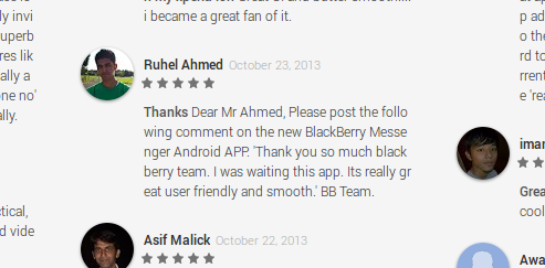 BBM Review Spam