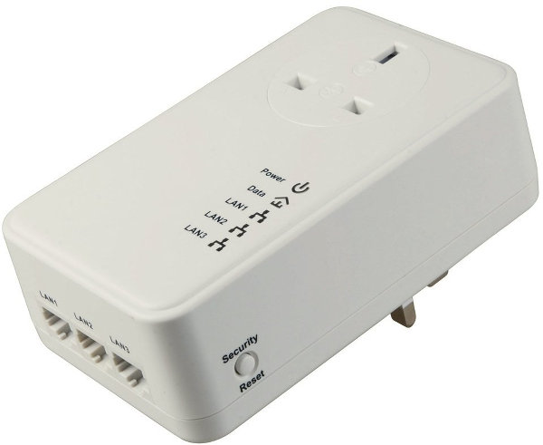 MaxValue HomePlug 3 Ports Passthrough