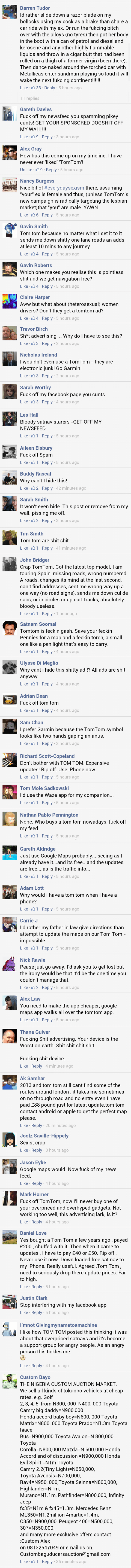 Tom Tom customer revolt