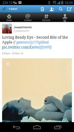 Twitter explicit screenshot