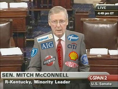 Politician with NASCAR style sponsorship