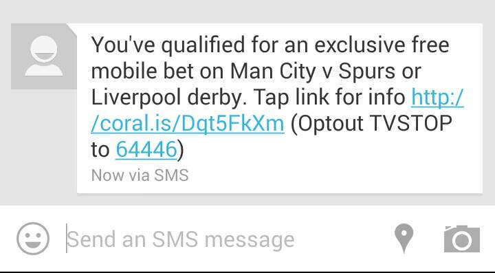 Coral SMS Spam Screenshot
