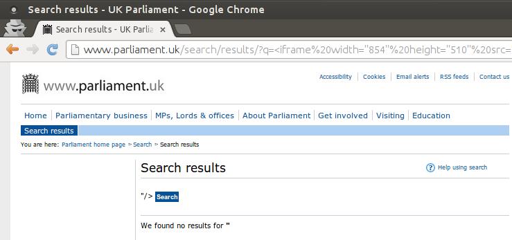 Parliament XSS Chrome