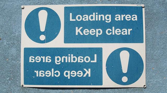 reversed signs