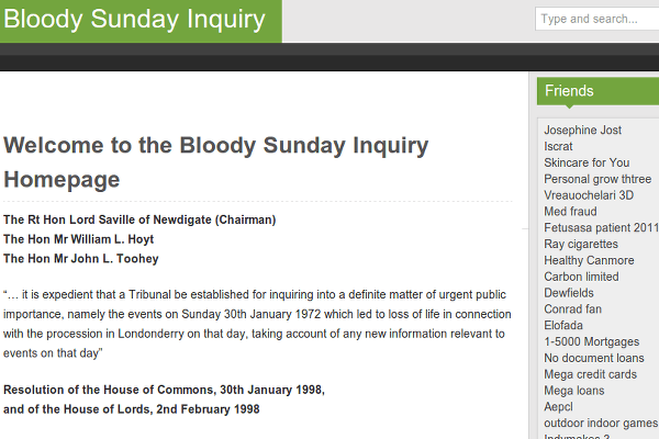 Bloody Sunday Spam