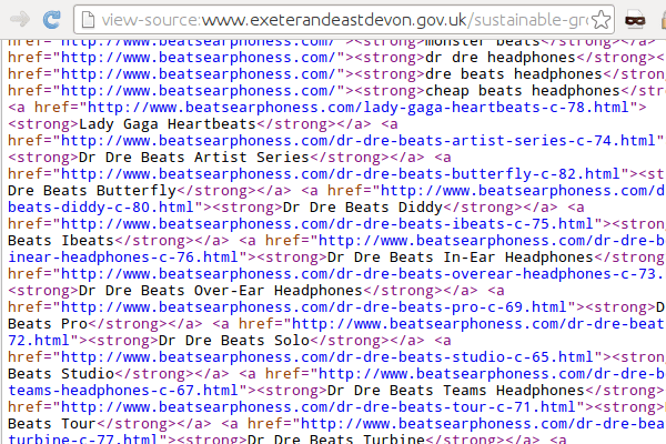 East Devon HTML Spam-fs8