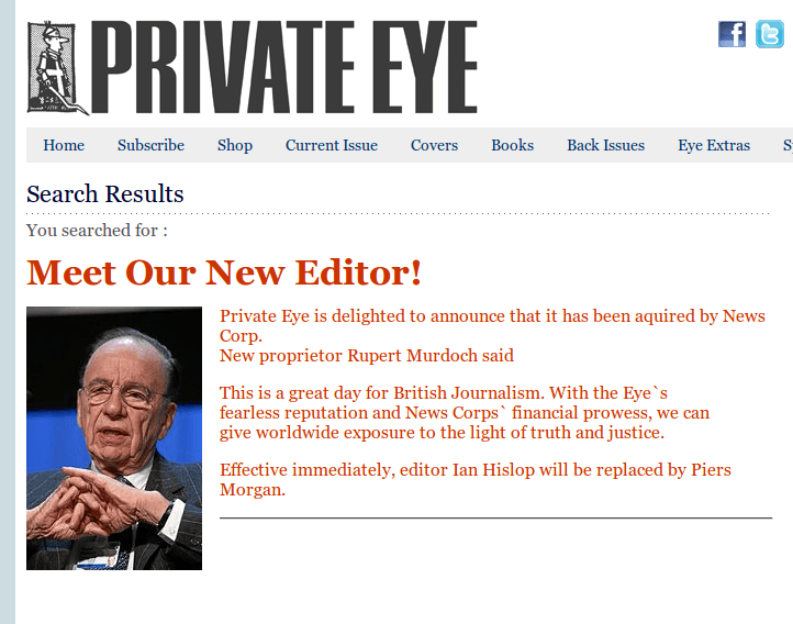 Private Eye demonstrating XSS