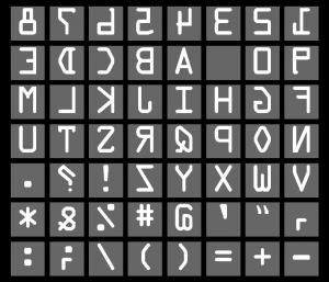 Letter Press Thick Darker Reversed