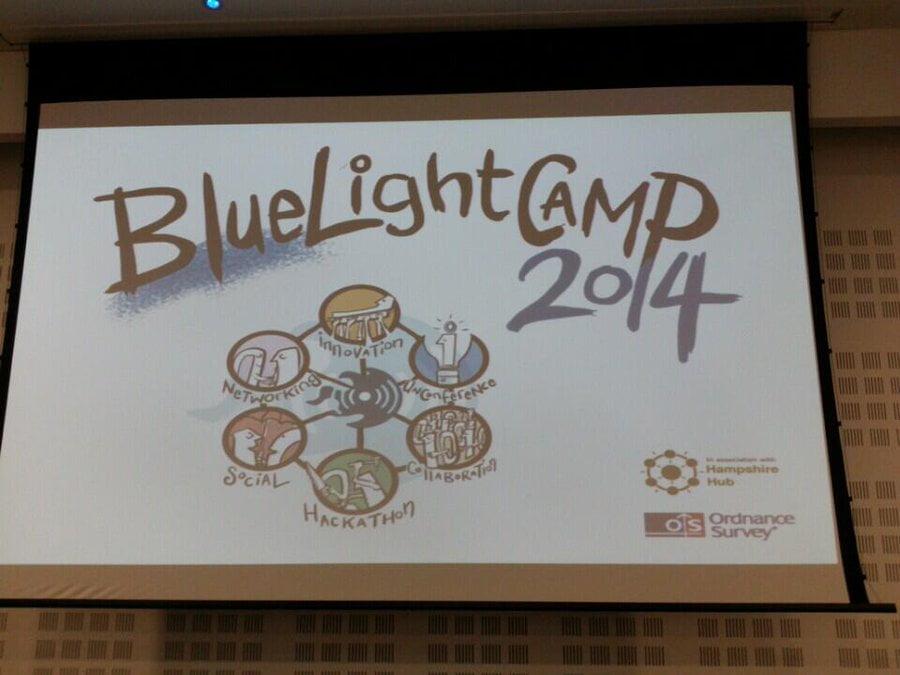 Big banner for Blue Light Camp 2014.