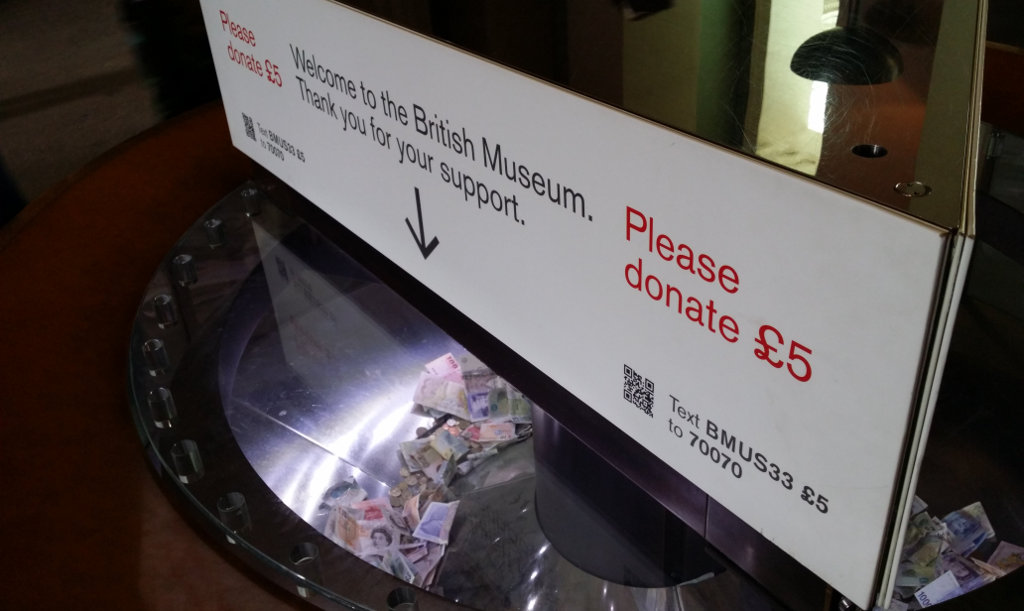 British Museum Donate a Fiver