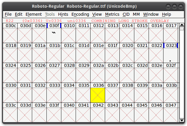 Roboto Font Missing Character