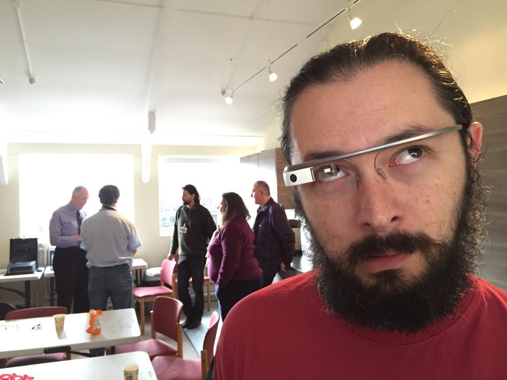 Me wearing a Google Glass headset