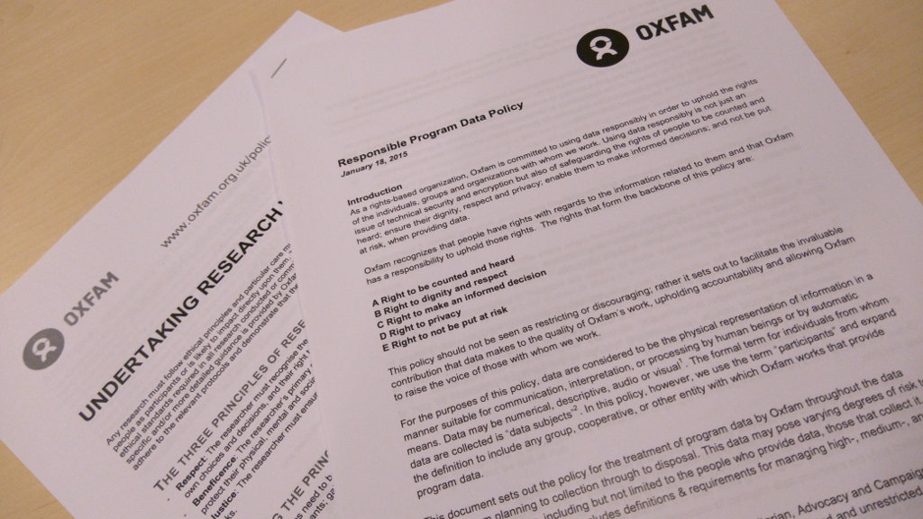 Oxfam Data Privacy