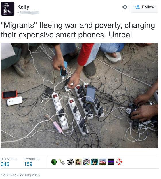 Migrant Tweet