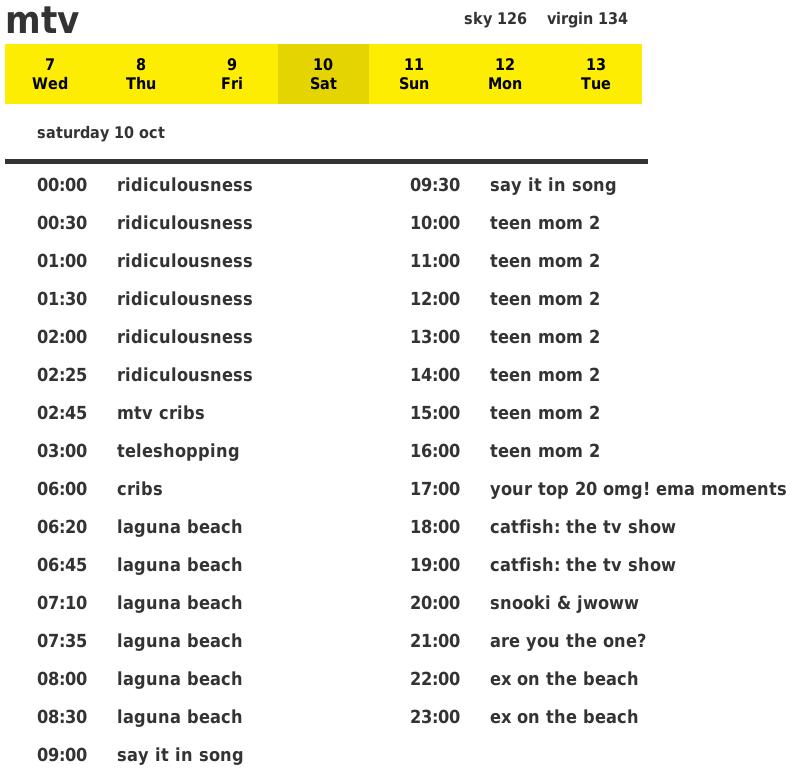 mtv schedule-fs8
