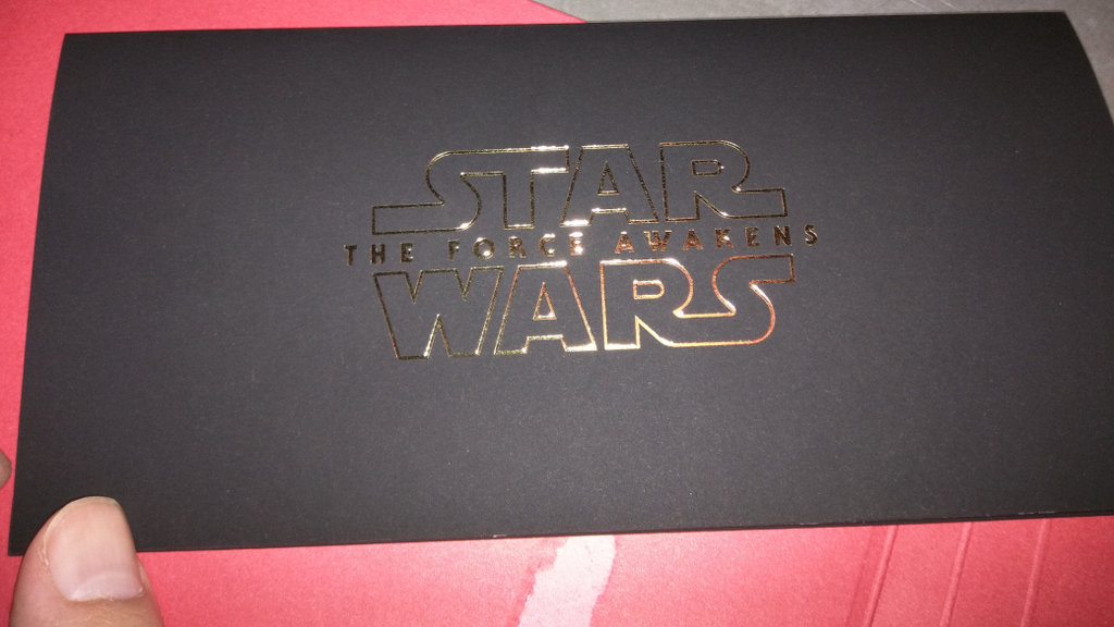 Star Wars Ticket Envelope