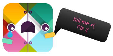 A Slack icon saying 'kill me please'