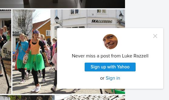 A pop up from Flickr telling me never to miss a post from Luke