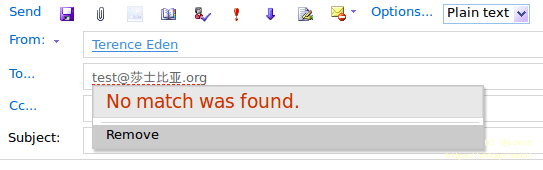 Outlook Web Access showing no match found