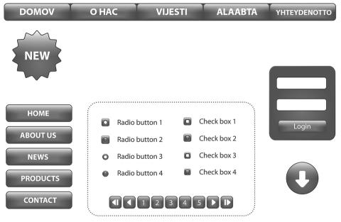 A screenshot of a badly designed website