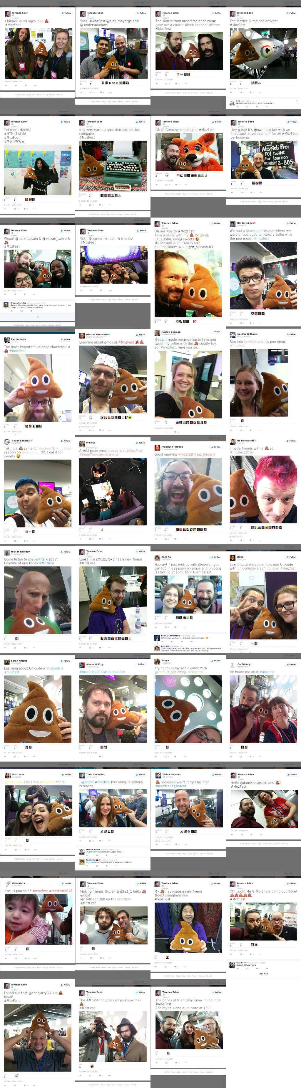 poo emoji montage of tweets