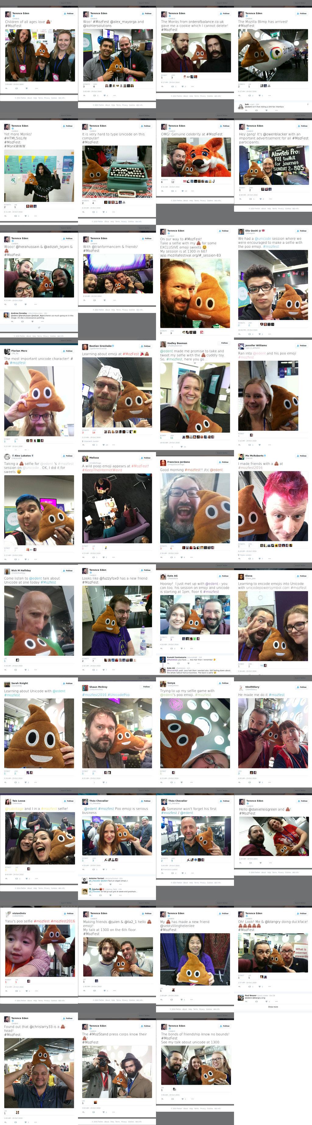 poo emoji montage of tweets