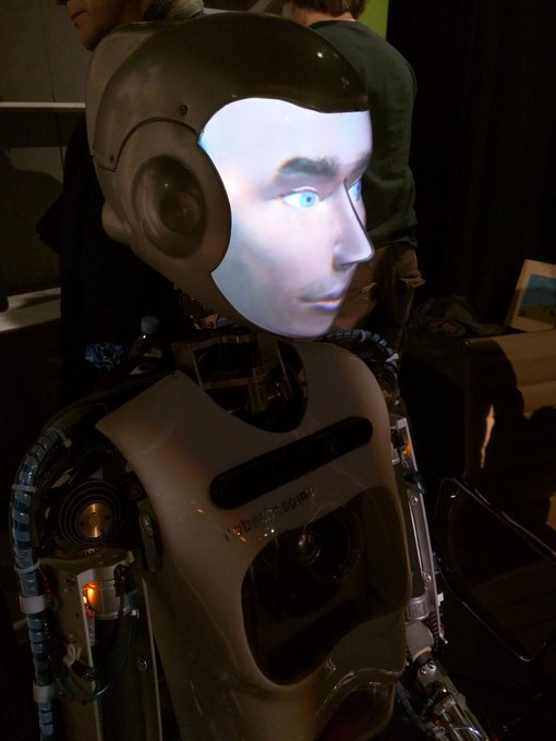 A robot with a human face