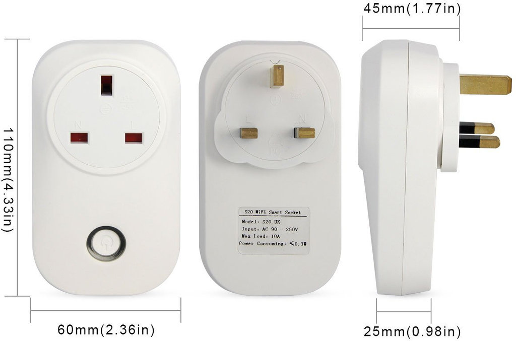 A schematic of a smart plug.