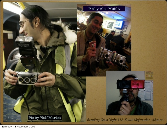 Some self-build 3D cameras.