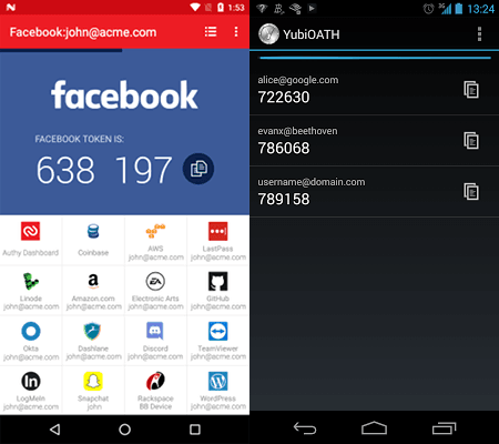 Authy app is delightful to use, Yubico looks grim