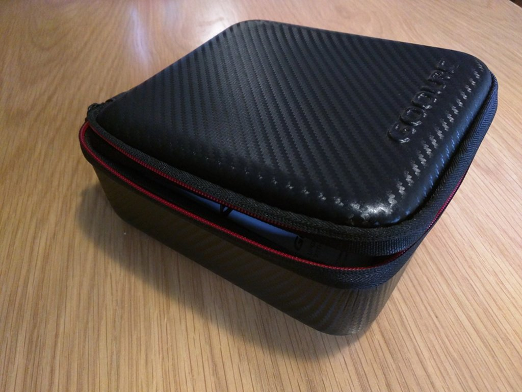 A sturdy black case