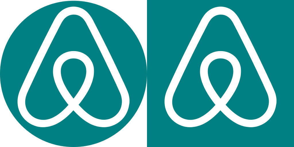 airbnb logo centred on the circle-fs8