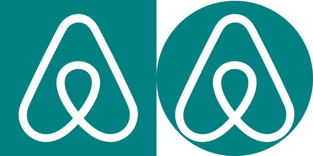 airbnb logo centred on the square-fs8