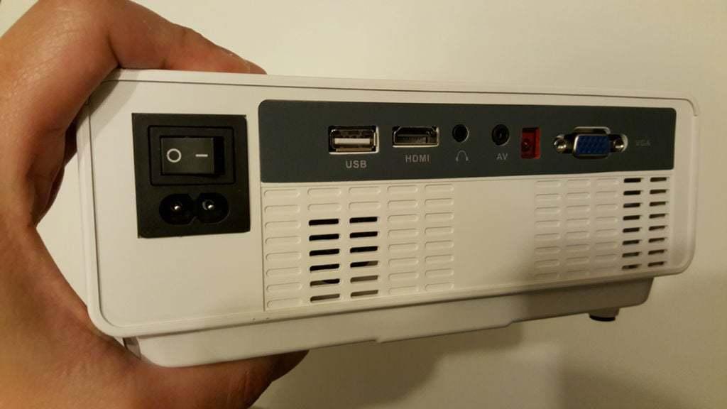 Input ports on the back