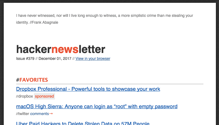 HackerNews Newsletter