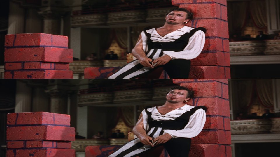 Still from the movie Kiss Me Kate. The image is stacked vertically.
