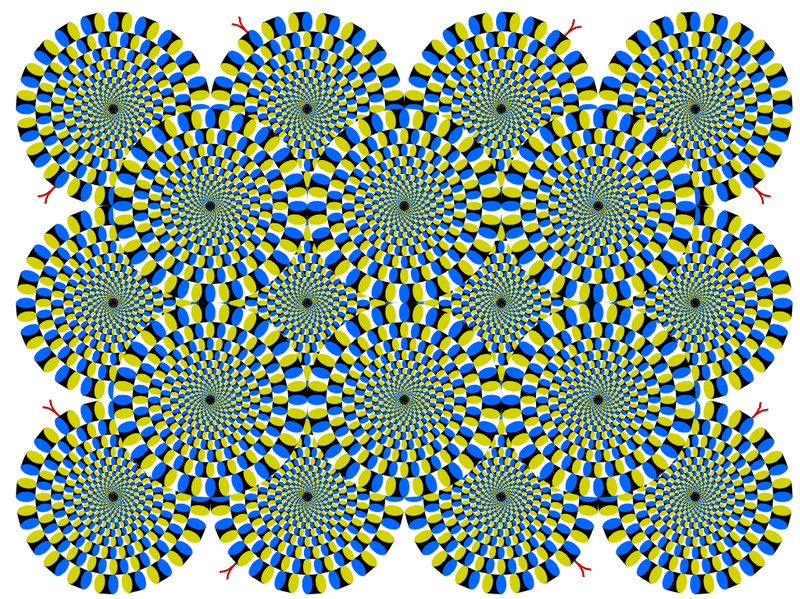 An optical illusion - it looks like the image is moving. It isn't.