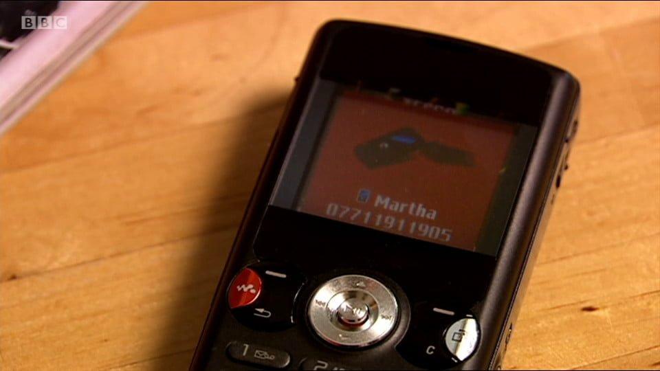 A Sony Ericsson phone.