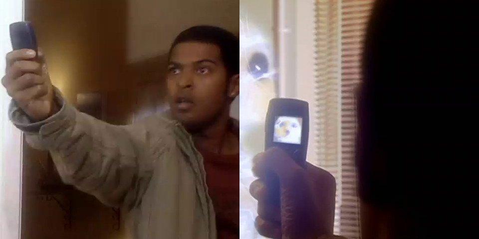 Mickey Smith with a Nokia Phone.