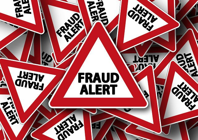 Fraud alert warning signs.
