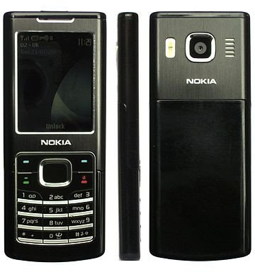 Nokia 6500 Classic - front, side, rear view.