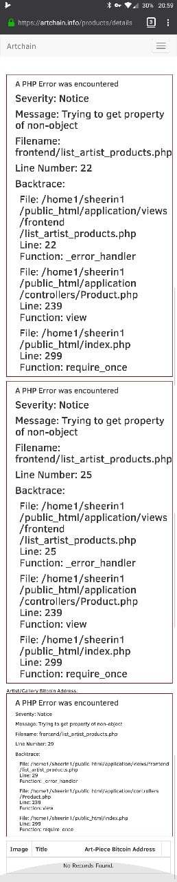 PHP errors on a shoddy site.