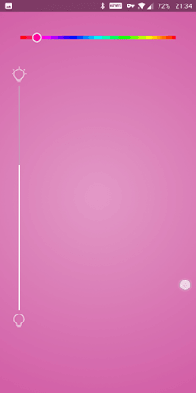 A pink screen with horizontal and vertical slider bars.