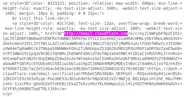 A block of HTML. The insecure URl is highlighted.