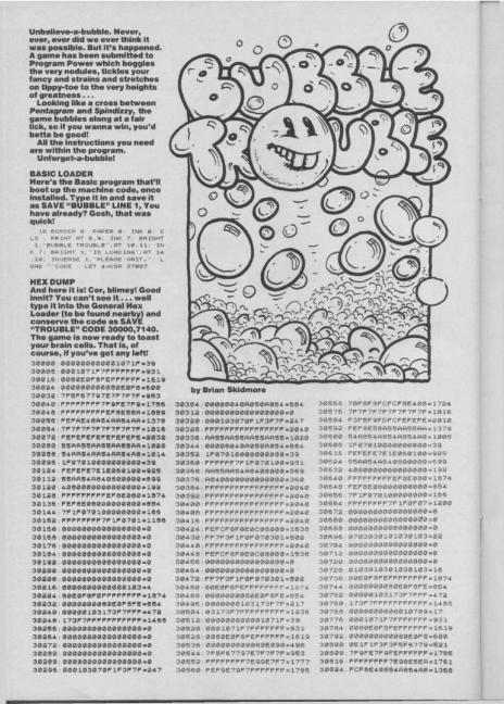 Dense blocks of Machine Code printed in a magazine.