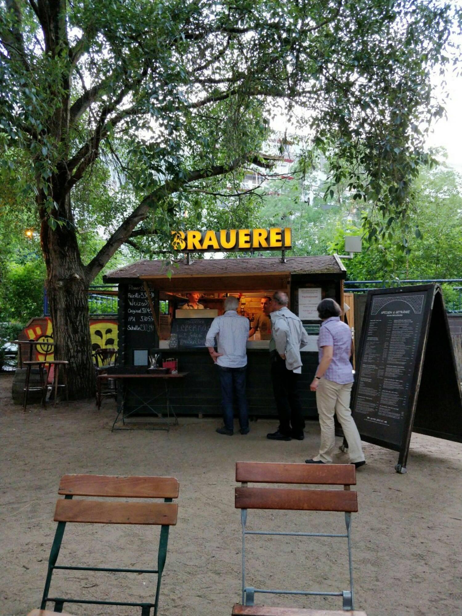 A typical German beer garden.