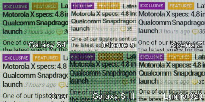 Various screens. The text is laid out differently on each.