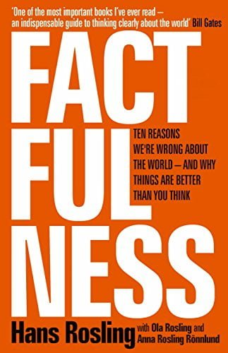 Book cover for Factfulness.